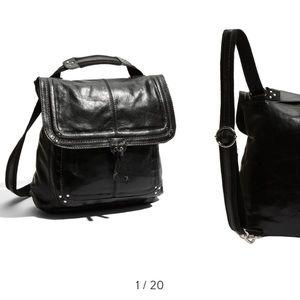 Ventura - the sak Black Leather Back Pack
